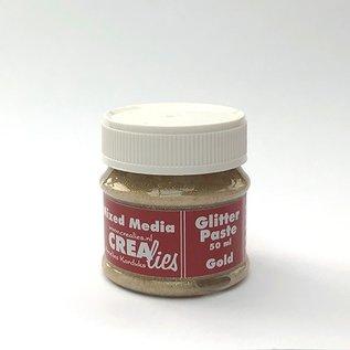 CreaLies Crealies  Glitter pasta goud, 50 ml