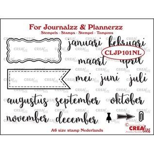 CreaLies For journals & plannerzz  maanden