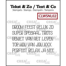 CreaLies Tekst & Zo NL tekst stempel no.02 Droom