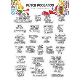 Dutch Doobadoo ticker Art A5 Doodle text (Eng)