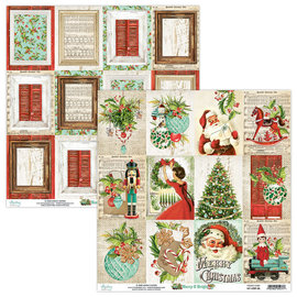Mintay Mintay Papers - Merry & Bright - sheet cards 12 x12