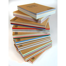 Mix karton blok A6 - 60 vel, 4 kleuren -goud-zilver-wit-blauw-- gemixte structuur