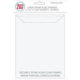 Avery Elle Stamp & Die Storage Pockets 50/Pkg  Large