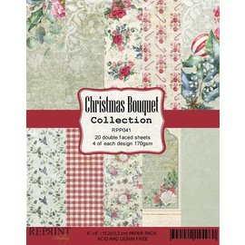Reprint Reprint Christmas Bouquet Collection 6x6 Inch Paper Pack