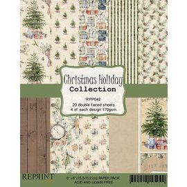 Reprint Reprint Christmas Holiday Collection 6x6 Inch Paper Pack