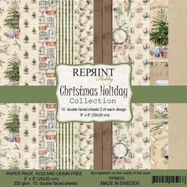 Reprint Reprint Christmas Holiday Collection 8x8 Inch Paper Pack