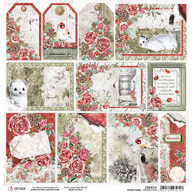 Ciao Bella Ciao Bella  Frozen Roses Frames & Tags Double-Sided