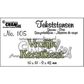 CreaLies Crealies Tekststans no. 105 Vrolijk Kerstfeest (NL) 10x31mm-9x48mm /