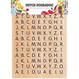 Dutch Doobadoo Dutch Doobadoo Dutch Sticker Art A5 Scrabble