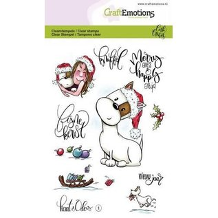 CraftEmotions CraftEmotions clearstamps A6 - Kaat en Odey 1