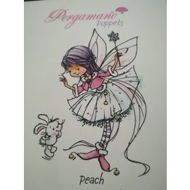 Pergamano WHIMSY POPPETS -PEACH STAMP