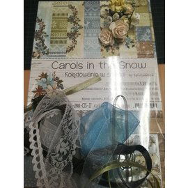 "Cart 'n Scrap Art Set lintjes en bloemen voor ""Carols in the Snow"" serie"