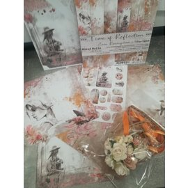 "Cart 'n Scrap Art Set lintjes en bloemen voor ""Times of Reflexion"" serie"