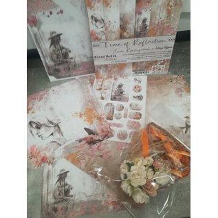 """Cart 'n Scrap Art Set lintjes en bloemen voor """"Times of Reflexion"""" serie"""