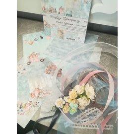 "Cart 'n Scrap Art Set lintjes en bloemen voor ""Frosty Sparkling"" serie"