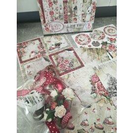 """Cart 'n Scrap Art Set lintjes en bloemen voor """"Frozen Roses"""" serie"""
