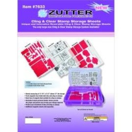"Zutter Zutter Cling & Clear Stamp Storage System REFILLS 12.25""X8.5"""