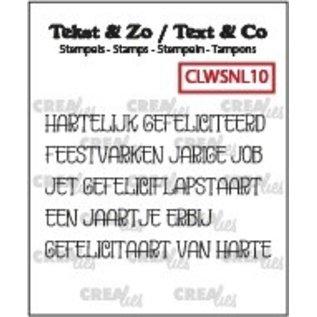 CreaLies Tekst & Zo stempels, Woordstrips no. NL10: Gefeliciteerd