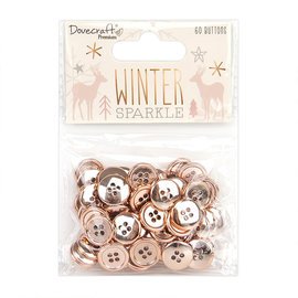 Dovecraft Winter Sparkle Rose Gold Buttons