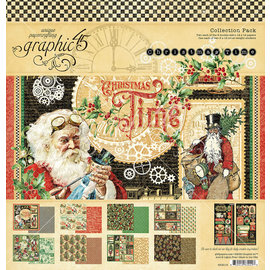 Graphic 45 Christmas Time  Collection Pack 2x8 designs 2x6 stickers