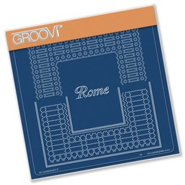 GROOVI GRID PLATE A5  ITALIAN CITIES DIAGONAL LACE GRID DUETS - ROME