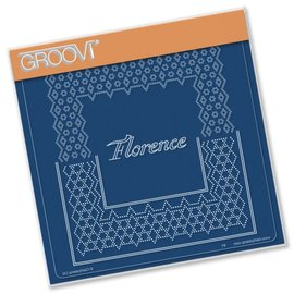 GROOVI GRID PLATE A5  ITALIAN CITIES DIAGONAL LACE GRID DUETS - FLORENCE