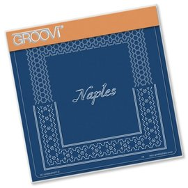 GROOVI GRID PLATE A5  ITALIAN CITIES DIAGONAL LACE GRID DUETS - NAPLES
