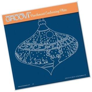 Groovi GROOVI PLATE A5 PEACE ON EARTH BAUBLE