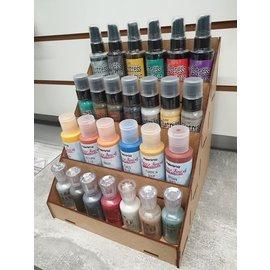 Cart 'n Scrap Art Display voor kleine flesjes