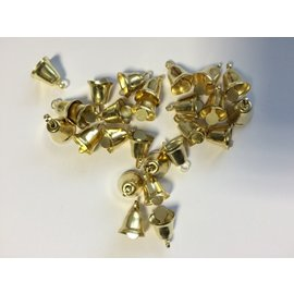 Gouden klokjes met klepel 12 st. 0.9mm