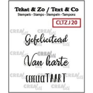 CreaLies Tekst & Zo NL tekst stempel no.20
