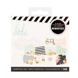 Heidi Swapp Memorydex  Spinner tabs - 100 cards