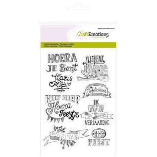CraftEmotions CraftEmotions clearstamps A6 - gefeliciteerd handlettering (NL)