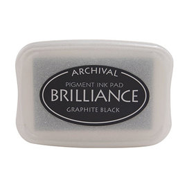 ARCHIVAL Brilliance Pigment Ink Pad - Graphite Black