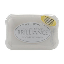 ARCHIVAL Brilliance Pigment Ink Pad  - Moonlight White