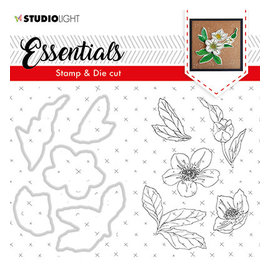 Studio Light SL Clear Stamp & Die Cut Christmas Rose Essentials, nr.48