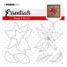Studio Light SL Clear Stamp & Die Cut Christmas Rose Essentials, nr.47
