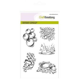 CraftEmotions CraftEmotions clearstamps A6 - Waterdruppels splash