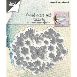 Joy! crafts Joy! floral heart and butterfly