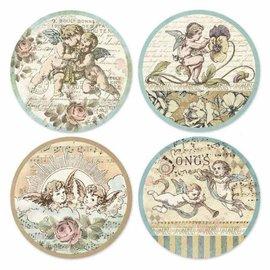 stamperia Stamperia Adhesive Paper Circles - Angels