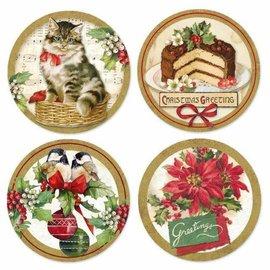 stamperia Stamperia Adhesive Paper Circles -Vintage Christmas