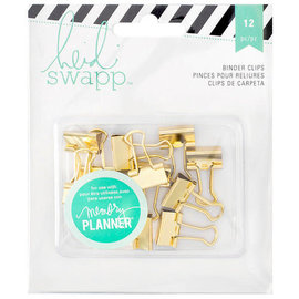 Heidi Swapp binder clips 12pcs Silver