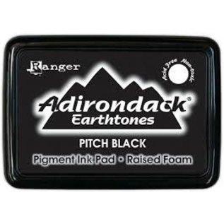 Ranger Adirondack Earthtones Pigment Inkpads, Pitch Black