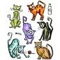Sizzix Sizzix Thinlits Die Set - 2pk  Crazy cats