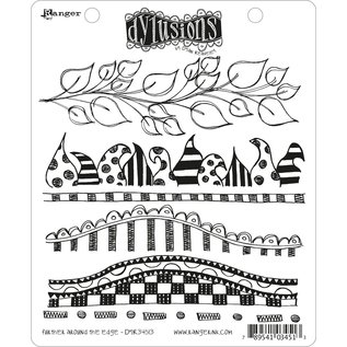 Ranger Dylusions cling stamp Further around the edge