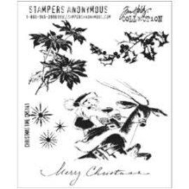 Tim Holtz Tim Holtz Cling Stamps  Cristmas time