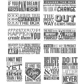 Tim Holtz Tim Holtz Cling Rubber Stamps - Mini Motivation