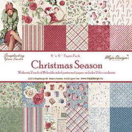 "Maja Design Maja Design ""Christmas Season"" 2 each of 18  designs. Double-sided"