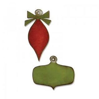 Tim Holtz Sizzix mini retro ornaments Movers/Shapers magnetic die