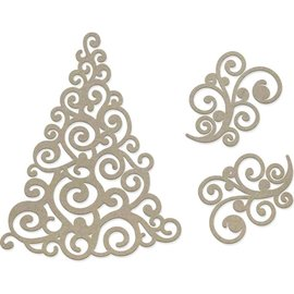 Swirling Christmas Tree 3st